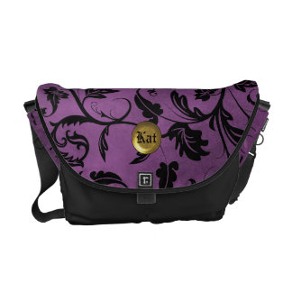 Purple Passion Vines Rickshaw Messenger Bag