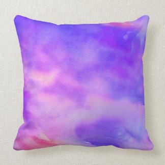 PURPLE PASSION WATERCOLOR DESIGN Throw Pillow