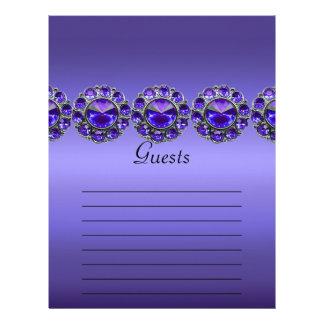 Purple Passionate Bejeweled Wedding Letterhead