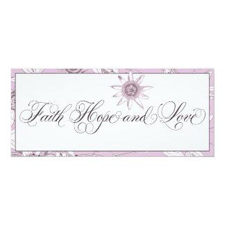 Purple Passionflowers Christian Wedding Invitation