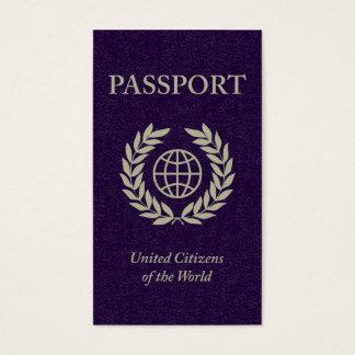 purple passport business card