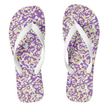 Beach Themed Purple Pastel Shades Abstract Pattern Flip Flops