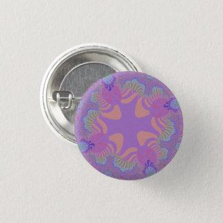 Purple Pastel Star Small Round Button