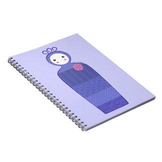 Purple Patchwork Doll Notebook
