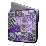 Purple Patchwork Laptop Sleeve