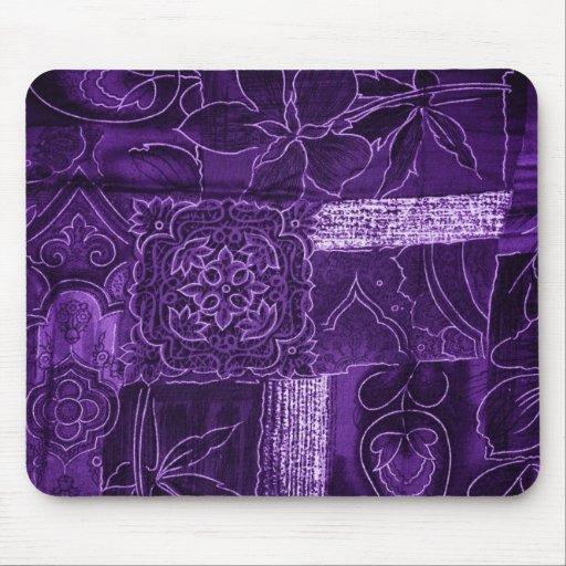 purple patchwork mouse pads