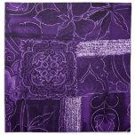 purple patchwork napkin