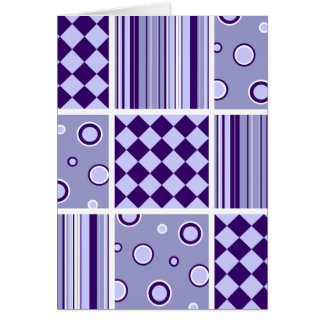 Purple Patchwork Pattern Card