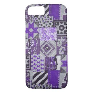 Purple Patchwork Quilt iPhone 7 Case