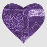 purple patchwork sticker