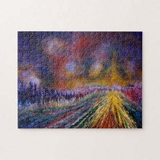 Purple Path Jigsaw Puzzle