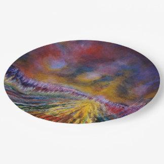 Purple Path 9 Inch Paper Plate