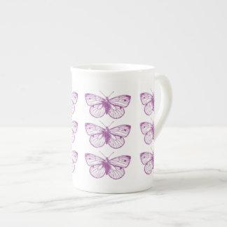 Purple Patina: Butterflies Porcelain Mug