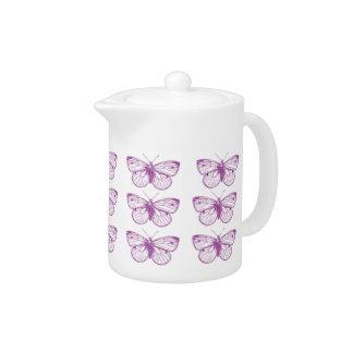 Purple Patina: Butterflies Teapot