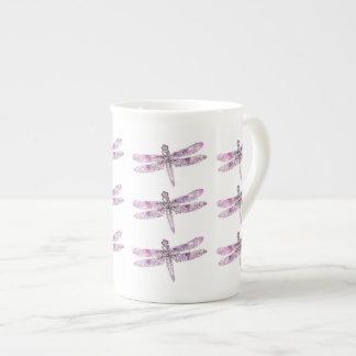 Purple Patina: Dragonflies Tea Cup