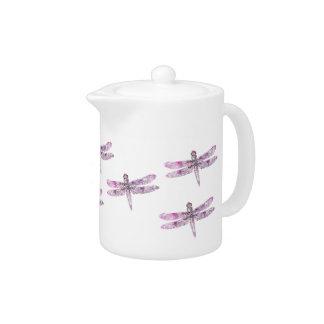 Purple Patina: Dragonflies Teapot