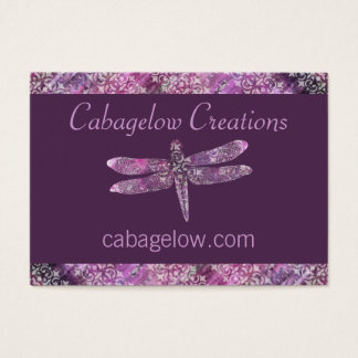 Purple Patina: Dragonfly Business Card