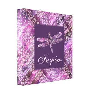Purple Patina: Dragonfly Inspire Canvas Print