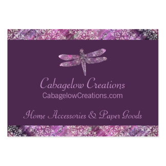 Purple Patina: Dragonfly Large Business Card