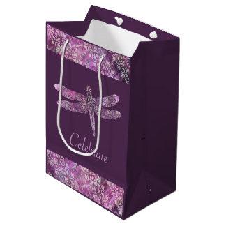 Purple Patina: Dragonfly Medium Gift Bag