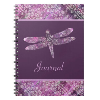 Purple Patina: Dragonfly Spiral Notebook