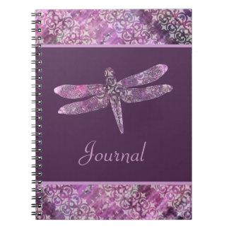Purple Patina: Dragonfly Spiral Notebook