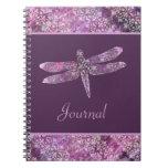 Purple Patina: Dragonfly Spiral Notebooks