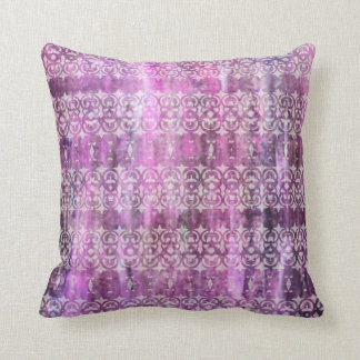 Purple Patina: Filigree Throw Pillow