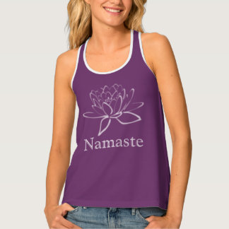 Purple Patina: Lotus Namaste Tank Top