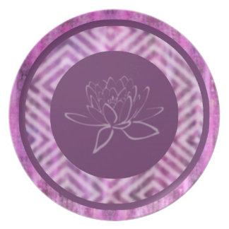 Purple Patina: Lotus Party Plate