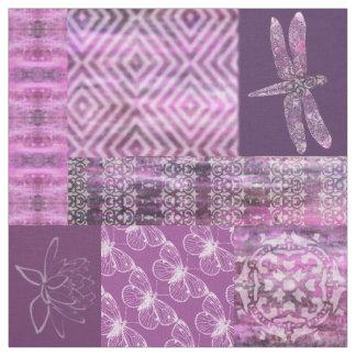 Purple Patina: Mosaic Fabric