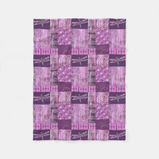 Purple Patina: Mosaic Fleece Blanket