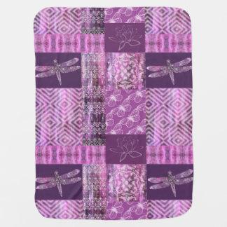 Purple Patina: Mosaic Swaddle Blanket