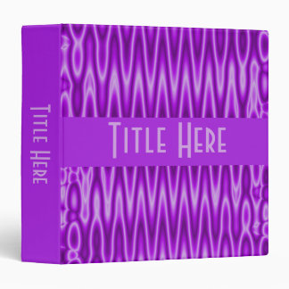purple pattern 3 ring binder