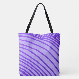 Purple Pattern All-Over-Print Tote Bag