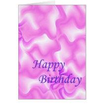 Purple Pattern Birthday Card