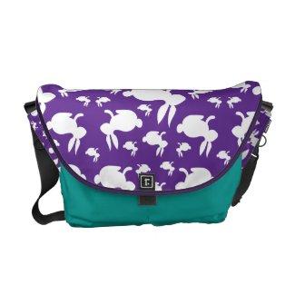 Purple Pattern Bunnies Courier Bag