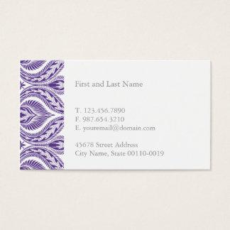Purple Pattern Business Card