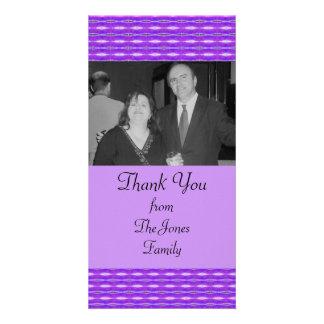 purple pattern card