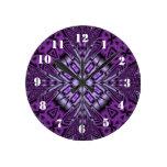 Purple Pattern Clock