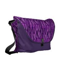 Purple Pattern Courier Bag