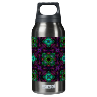 Purple Pattern Fractal Art 10 Oz Insulated SIGG Thermos Water Bottle