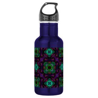 Purple Pattern Fractal Art 18oz Water Bottle