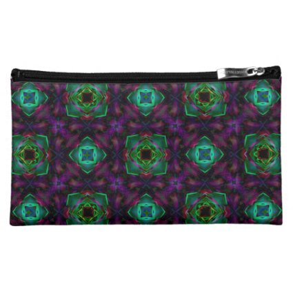 Purple Pattern Fractal Art Cosmetic Bag