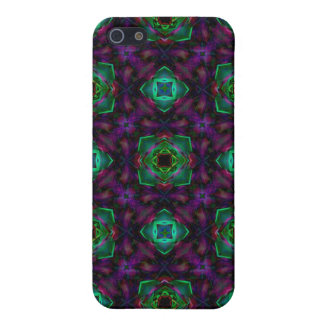Purple Pattern Fractal Art Cover For iPhone SE/5/5s
