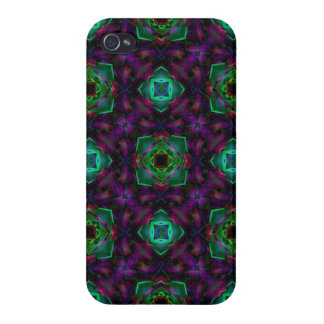 Purple Pattern Fractal Art iPhone 4/4S Cover