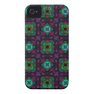 Purple Pattern Fractal Art iPhone 4 Case
