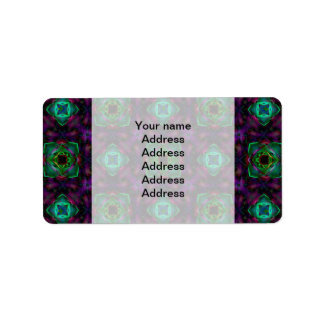 Purple Pattern Fractal Art Label
