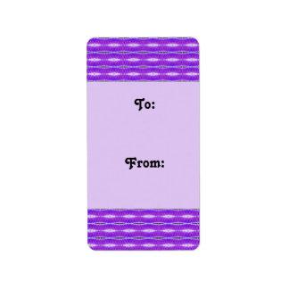 purple pattern gift tags