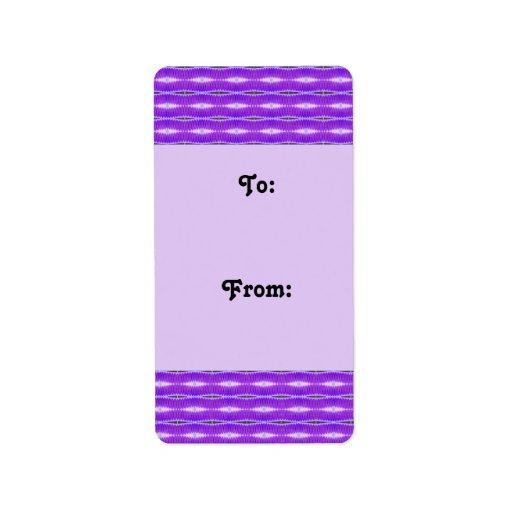 purple pattern gift tags personalized address labels